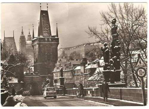 Charles Bridge, Prague by E.Einhorn, 60's, (postcard)