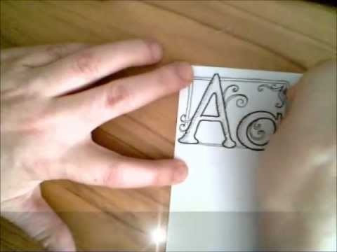 letter A tutorial