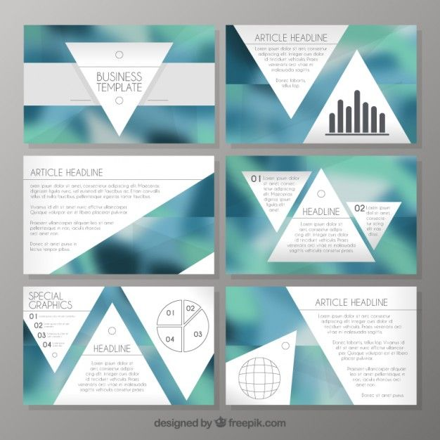 Company presentation with triangles  Free Vector