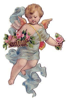 Vintage Valentine Clip Art | Vintage Valentine's Day Clip Art - Sweet Cherub - The Graphics Fairy