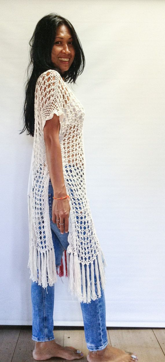 Bohemian Off-White Hand Crochet Half and Half Gypsy от SpellMaya
