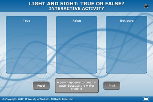 Light and sight: true or false?   Sciencelearn Hub
