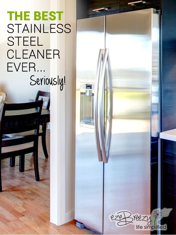 Looking for a stainless steel cleaner that actually works? Fingerprints, smudges, you name it! This amazing stainless steel cleaner eliminates them all.