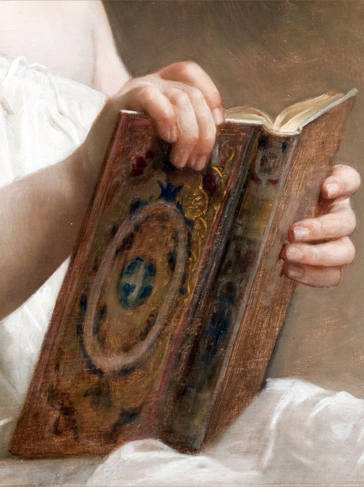 The Story Book, 1877 | William Adolphe Bouguereau. #reading #books evrything with a book