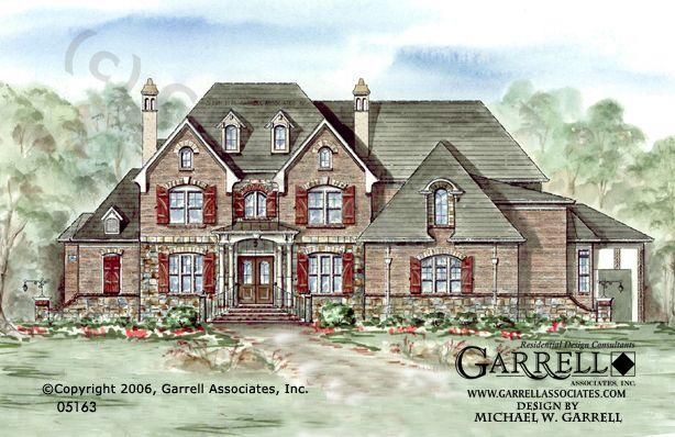 Garrell Associatiates, Inc.South Brickton Hall House Plan