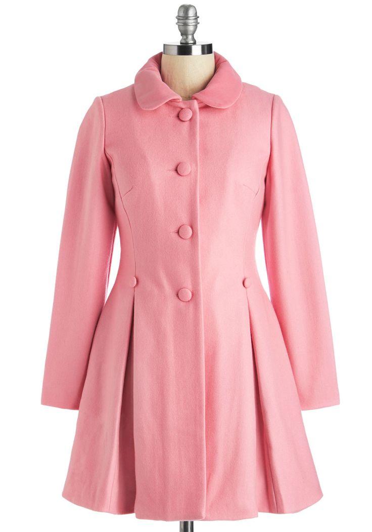 Raspberry Sherbet Coat #modcloth #ad *pretty in pink
