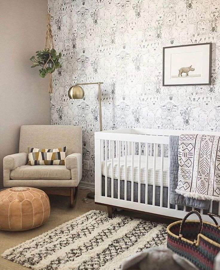 Gender Neutral Nursery Boho Nursery Neutral Boy Nursery Baby