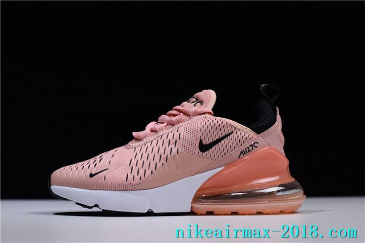 New Arrival Nike Air Max 270 AH6789-600 Womens Sneakers Pink White BlACK 999eb9ed7