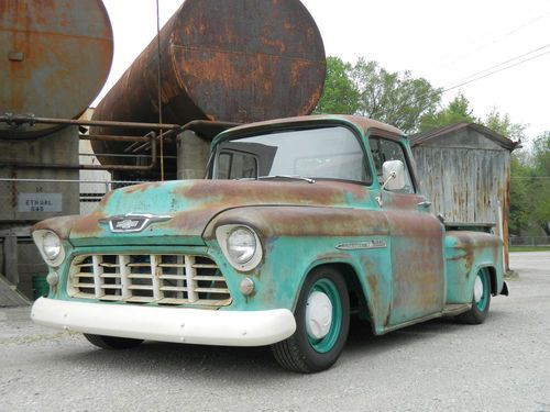 1955 chevy truck rat rod hot rod patina v8 shop truck