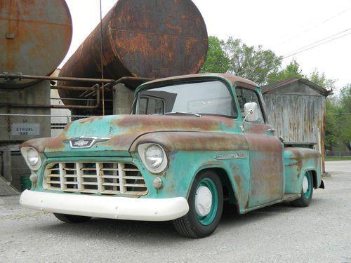 1955 chevy truck rat rod hot rod patina v8 shop truck