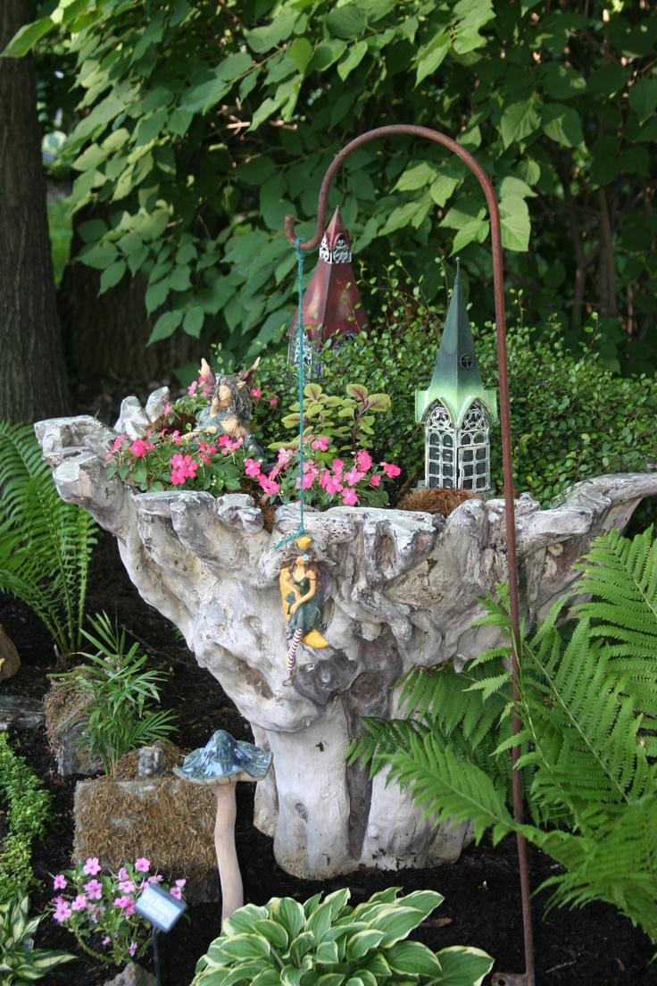 Fairy Garden Container Ideas miniature diy fairy garden ideas Favorite Fairy Garden Container Originally Sold As A Table Base But Makes A Way