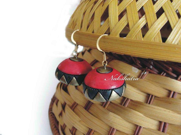 Terracotta jhumkas-Jewellery-Nakshatra - Terracotta Jewellery