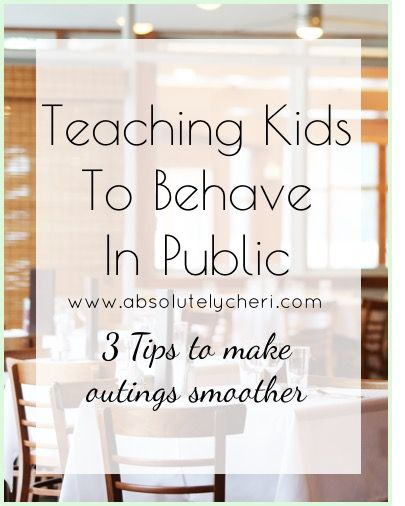 Going out in public with young children might seem impossible to some. Read this post for my best tips on how to teach kids to behave in public.