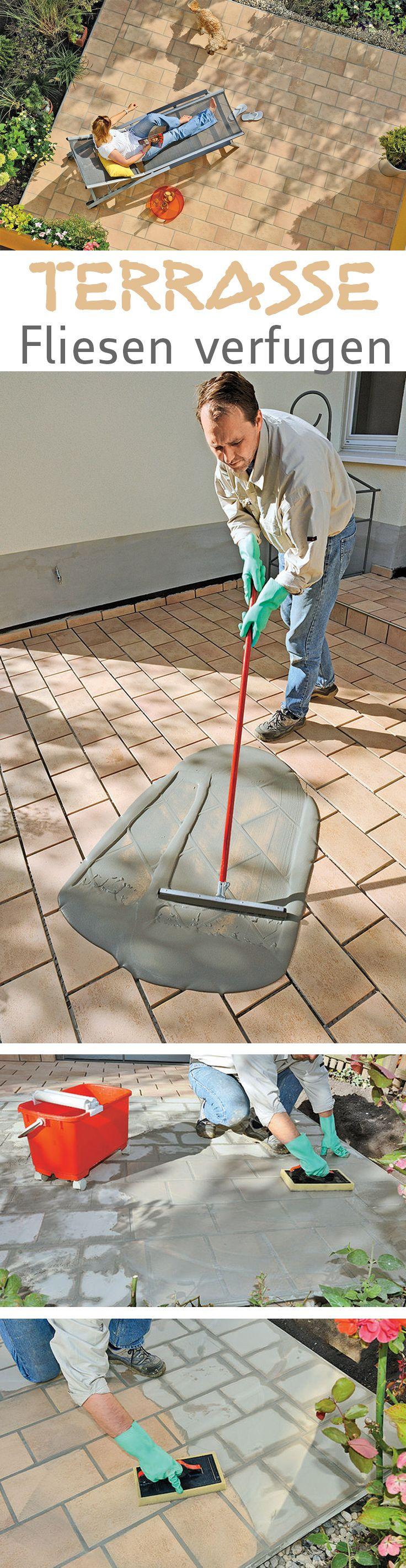 Nach dem Verlegen der Fliesen ist der nächste Schritt das Verfugen. Wir zeigen Schritt für Schritt, wie du die Fliesen für deine Terrasse selbst verfugen kannst.