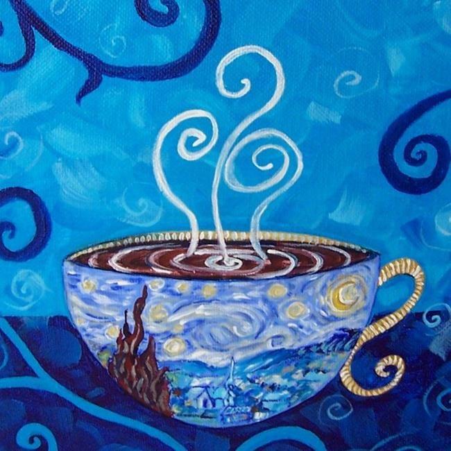 Art: Starry Night Mocha Latte ~ Coffee House Series ~ Sold by Artist Dana Marie