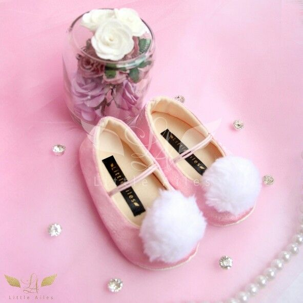 LA rothschild dandelion pink babyshoes prewalker shoes