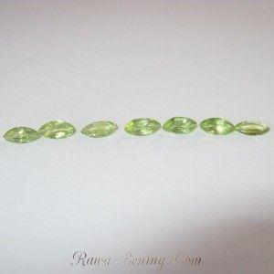 Jual 7 Pcs Batu Peridot Bentuk Marquise Shape 7mm x 3mm