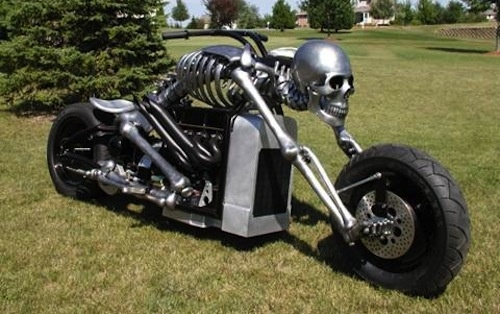 John Holt is a self taught metal bender and the creator of this motorcycle 'Iron Death'. Holt started off making medieval styled armour and now owns a shop in Boone County, Illinois, where the bike was originally built. The bike now lives in The Petersen Automotive Museum in L.A.