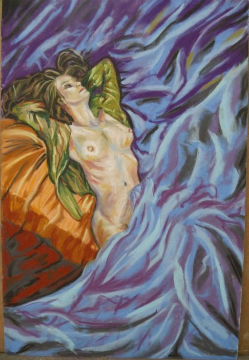 Buy Unhurried morning, Pastel drawing by Anna  Sasim on Artfinder. Discover other original paintings, prints from independent artists.Original nude art for sale, soft pastel art, Pastelmat paper, woman drawing, woman painting.