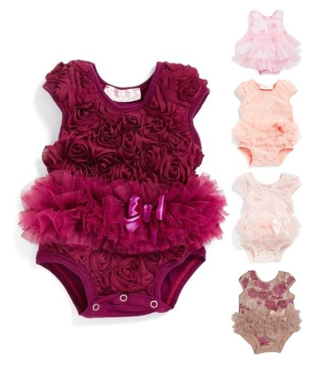Baby girl tutu ruffle floral rose bodysuit #ad