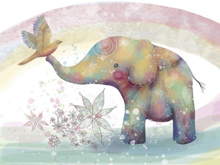 День слона открытки, танец анимация рисунок
