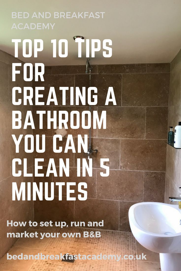 How to run a B&B - top tips for creating a bathroom you can clean in 5 minutes. Tiled wetroom