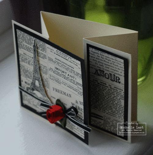 Great DesignFancy Folding, Cards Design, Cards Ideas, Eiffel Towers, Cards Folding, Stamps Sets, Folding Cards, Cards Layout, Cards Shape