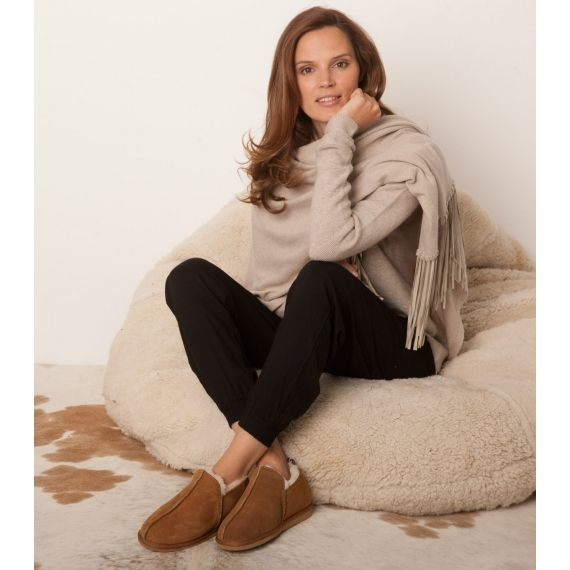 Aspiga Lola Sheepskin Slippers Natural. £40. The perfect treat this winter! Finished with a soft brushed exterior and fully lined with the softest sheepskin fur to keep your feet cozy! Worldwide Shipping Available.