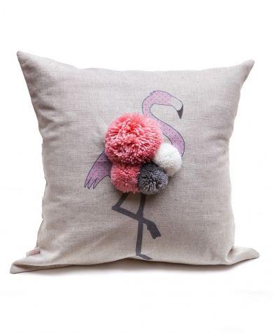 Подушка декоративная Фламинго Счастье в мелочах