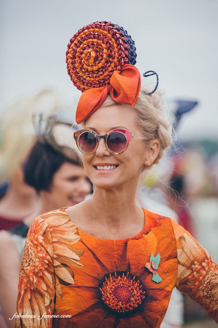 melbourne spring racing carnival - hats as seen last year wearing our fabric!
