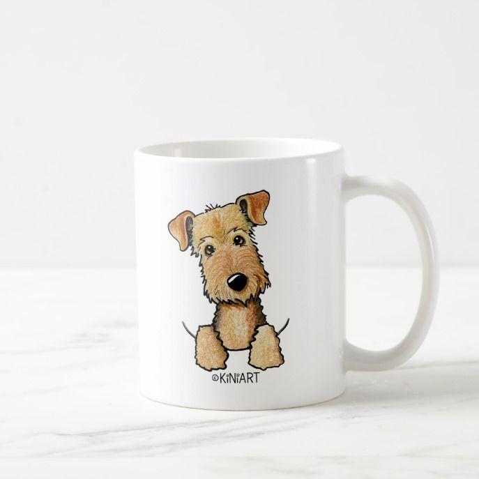 I Love Heart Airedale Terriers Mug