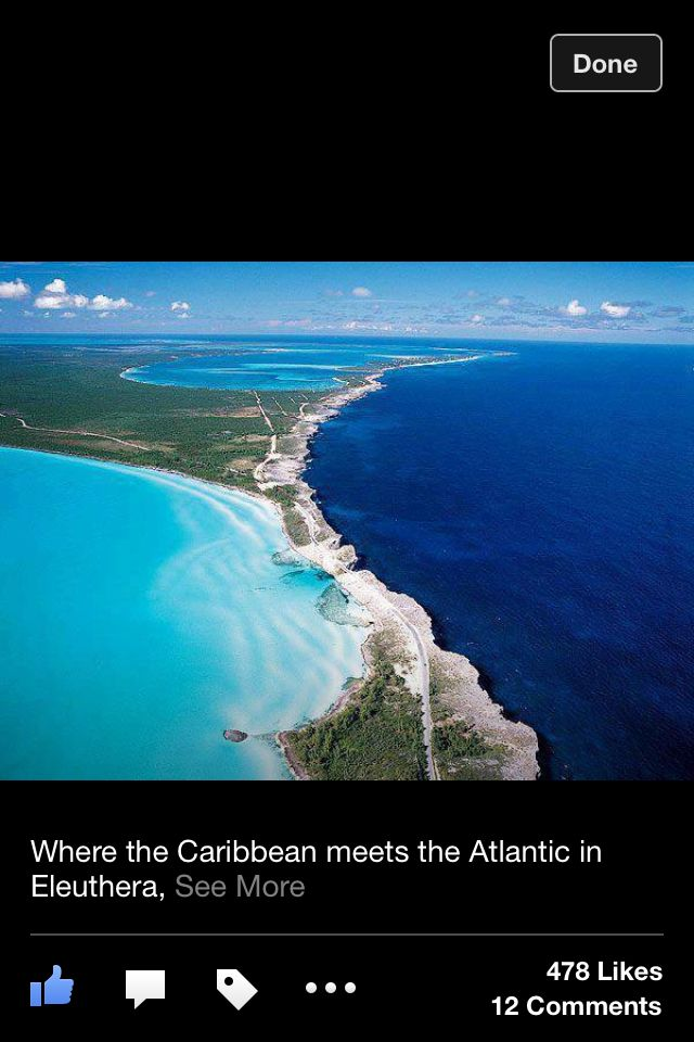 Where the Caribbean meats the Atlantic in Eleuthera.