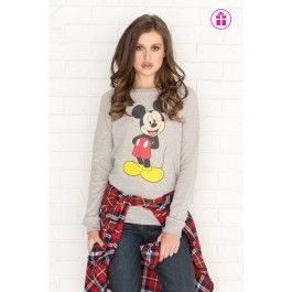 Vintage grey Mickey Mouse graphic sweatshirt