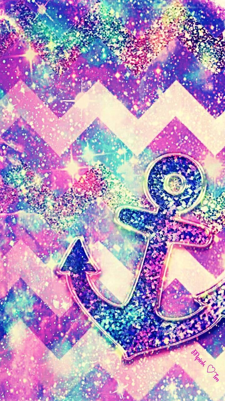 Bling Anchor Galaxy Wallpaper Androidwallpaper Iphonewallpaper Wallpaper Galaxy Sparkle Glitt Floral Wallpaper Desktop Pretty Wallpapers Galaxy Wallpaper