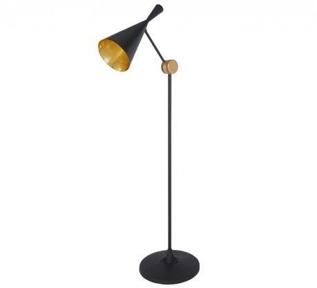 Lampe: Beat Floor Black Gulvlampe Designer: Tom Dixon Levrandør: tomdixon.net År: 2014