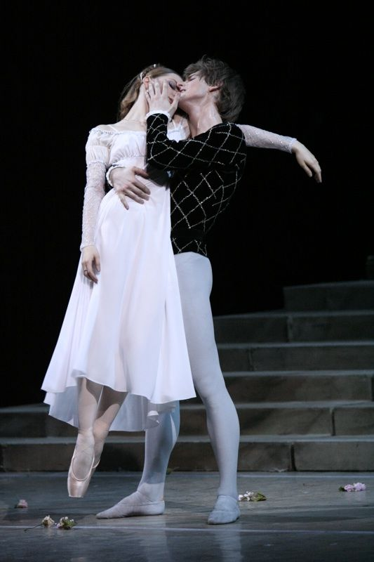 Another Russian dancer, formerly of the Kirov and now a member of the Bolshoi: Evgenia Obraztsova, dancing the role she says she was born to dance, Juliet.