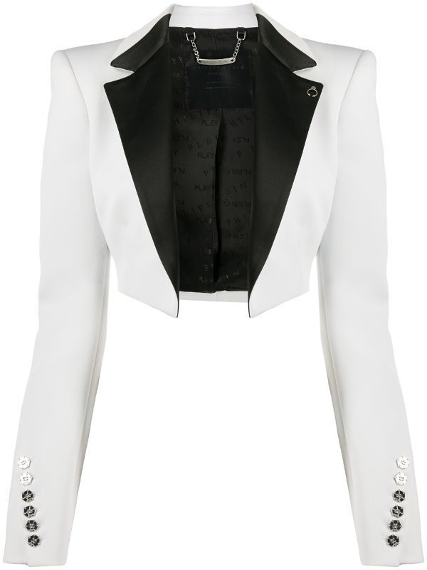 Philipp Plein Cropped Tuxedo Bolero Jack Farfetch in
