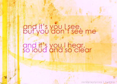 Coldplay Lyrics - Shiver