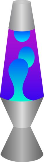 Blue and Purple Lava Lamp