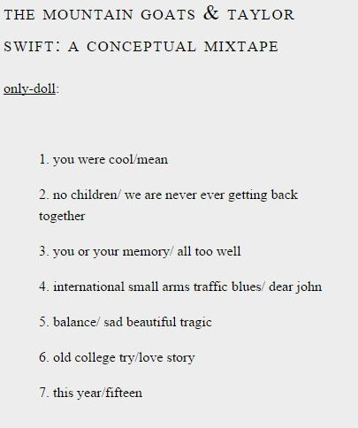 William Caxton Fan Club • the mountain goats & taylor swift: a conceptual...