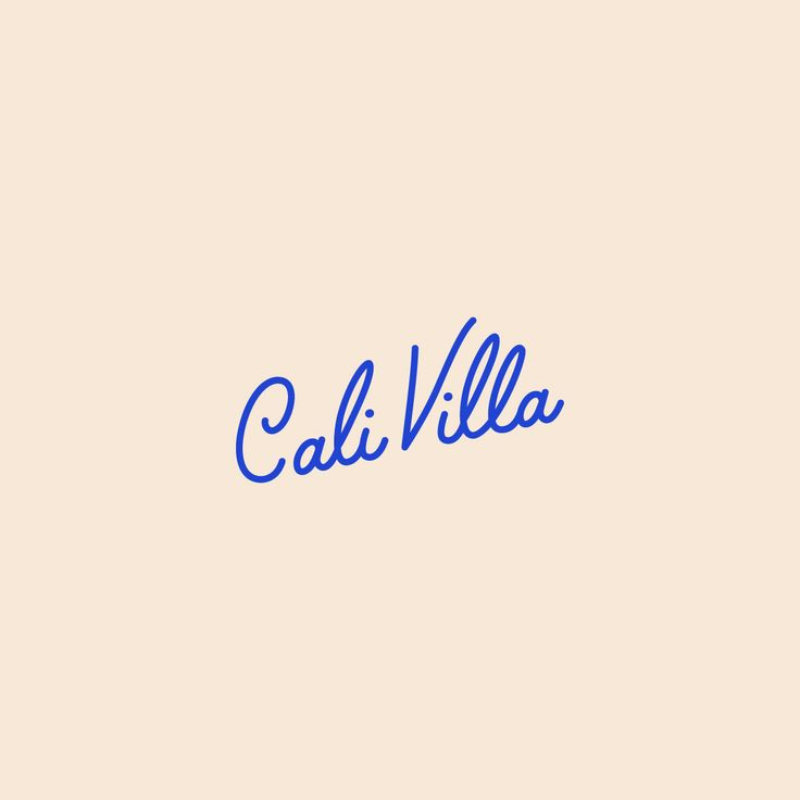 Cali Villa Pre-Made Brand by Swoone