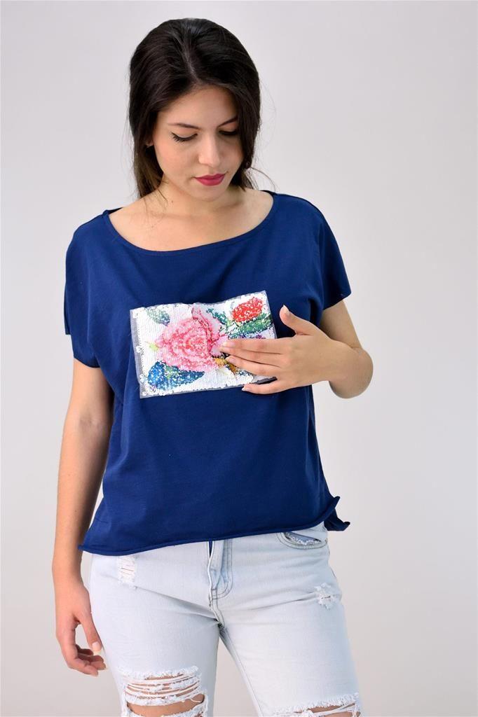Potre – Μπλούζα με διπλό απλικέ
