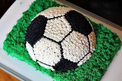 futbol topu seklinde pasta yapimi