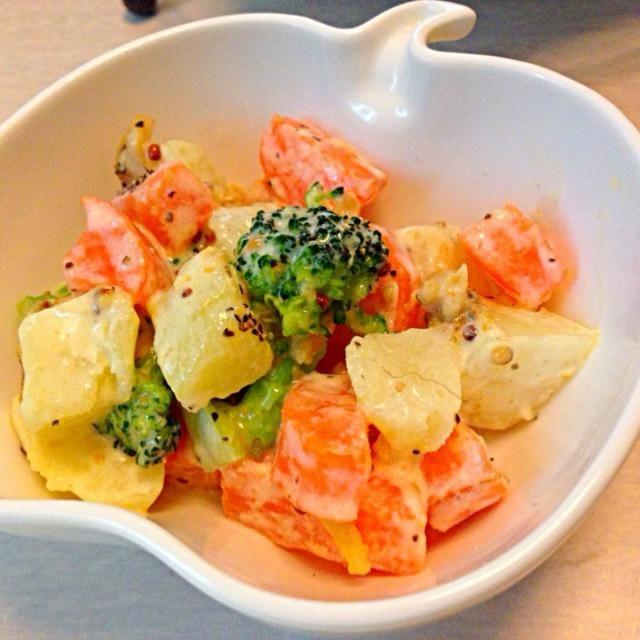 晩御飯で余った温野菜をアレンジして一品デリにしました〜 - 9件のもぐもぐ - 温野菜のマヨマスタード和え by sakuranbo6569