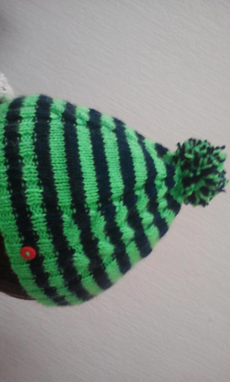 bonnet vert fluo
