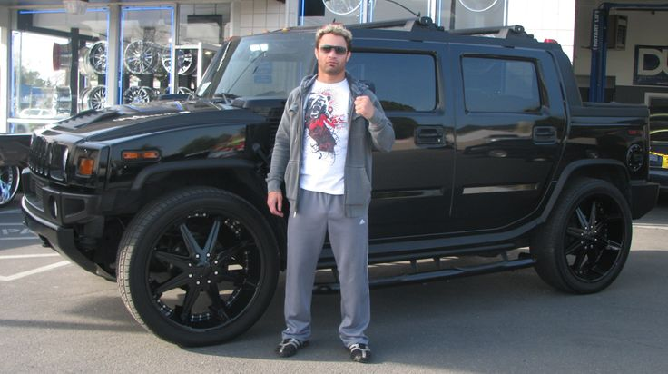 Josh Koscheck Murdered-Out  2008 Hummer H2 SUT