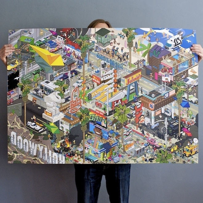 Eboy LA Pixel Poster