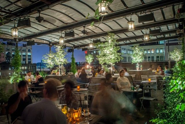 gallow green: one of our favorite rooftops in the city for a cocktail | feels like a secret garden