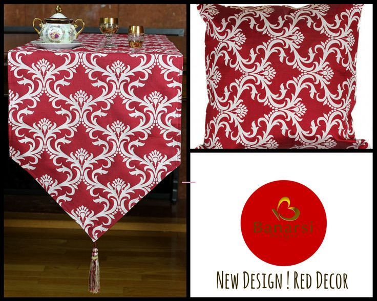 Damask Style In #Red Color. #home Decor Ideas.