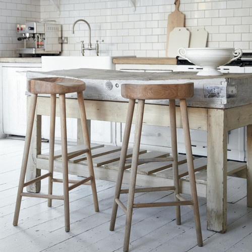 Oak Stool - contemporary - bar stools and counter stools - Cox & Cox